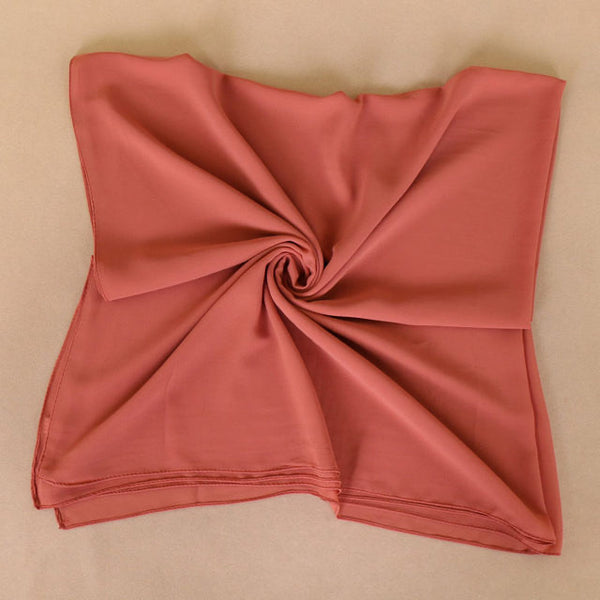 Peach Square Chiffon Bubble Scarf