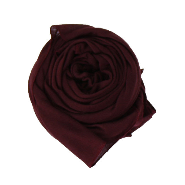 Burgundy Cotton Jersey Scarf (4624113958969)