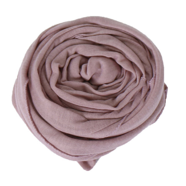 Dusty Rose Cotton Jersey Scarf (175475949582)