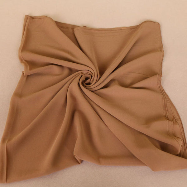 Gold Square Chiffon Bubble Scarf
