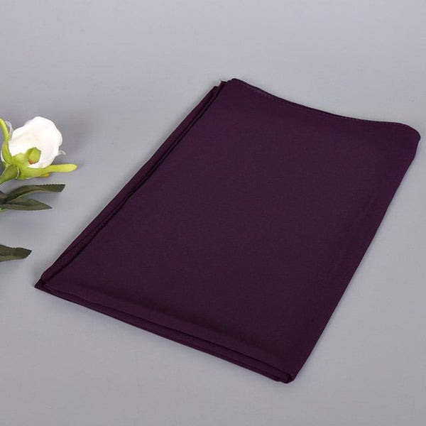 Purple Bubble Chiffon Scarf (2178893643833)