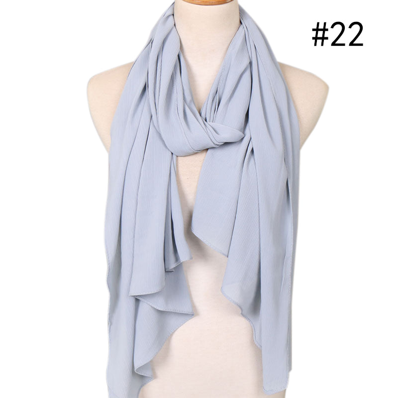 light blue crepe chiffon scarf