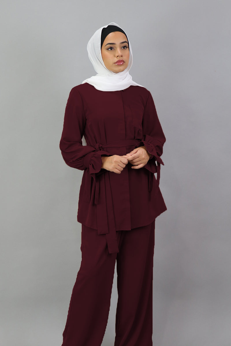 Deluxe Soft Blouse Top - Mahogany