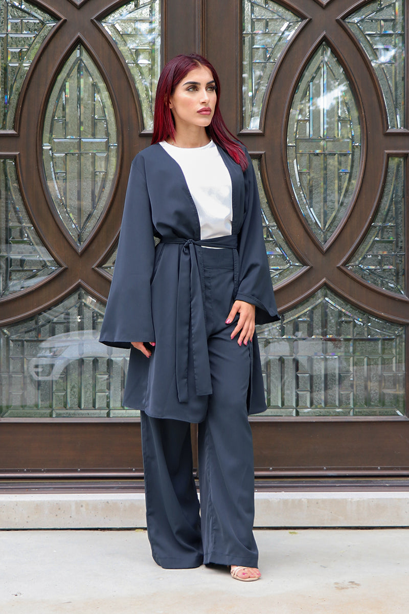 Deluxe Soft Wide Sleeve Cardigan- Navy Blue