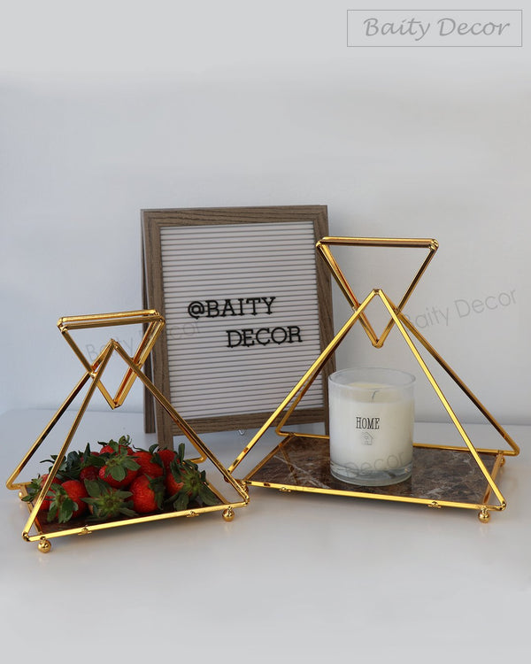 2 Elegant Geometric Trays (4608048496697)