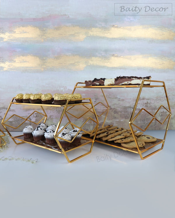 2 Elegant two Tier Serving Stands (4608093651001)