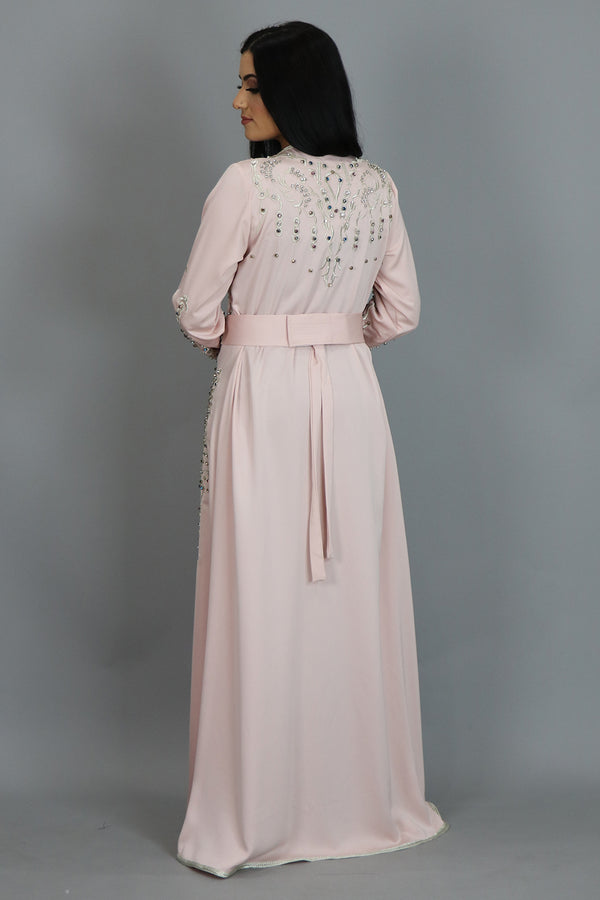 Blush Pink Moroccan Beaded Kaftan (2414553235513)