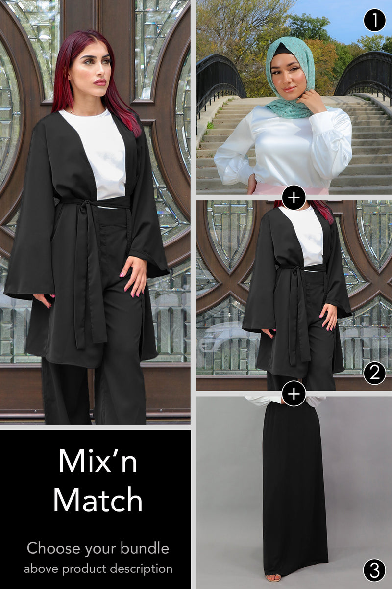 3-Piece Bundle: Skirt, Top and Cardigan