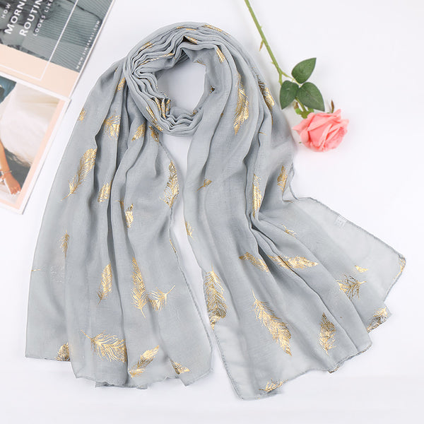 sliver metallic cotton scarf
