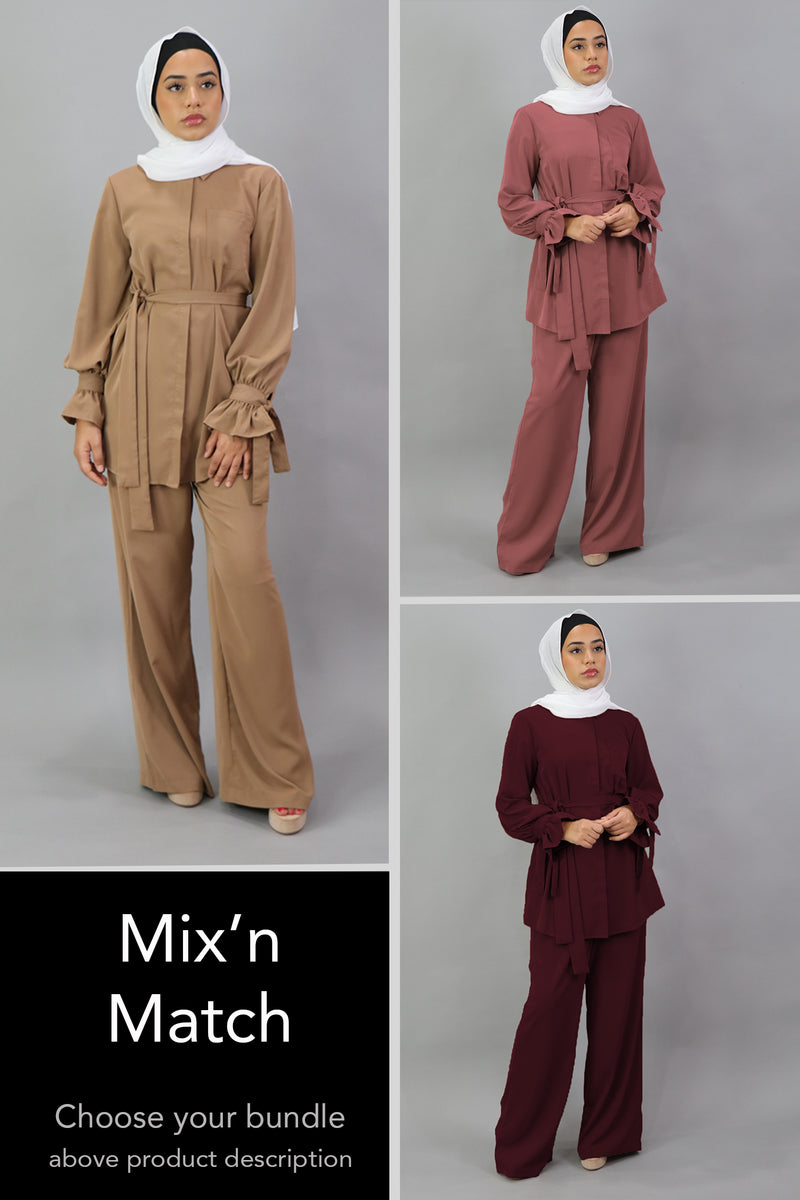 Mix & Match: Blouse Pants Set