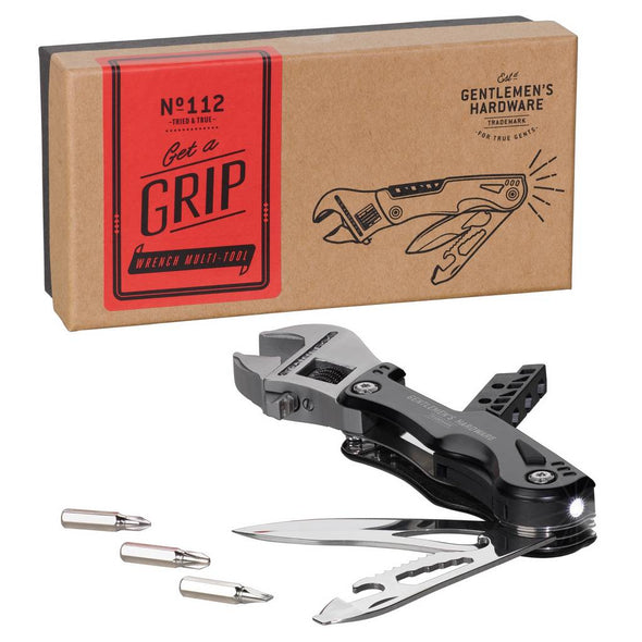 Gentlemen's Hardware Wrench Multi Tool with LED Light