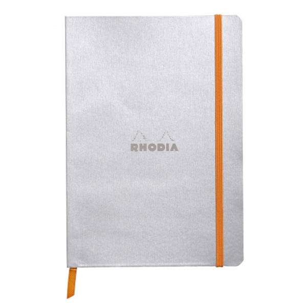 Rhodia Soft Cover Rhodiarama Notebooks, 6 x 8 1/4 (A5), Silver, Lined