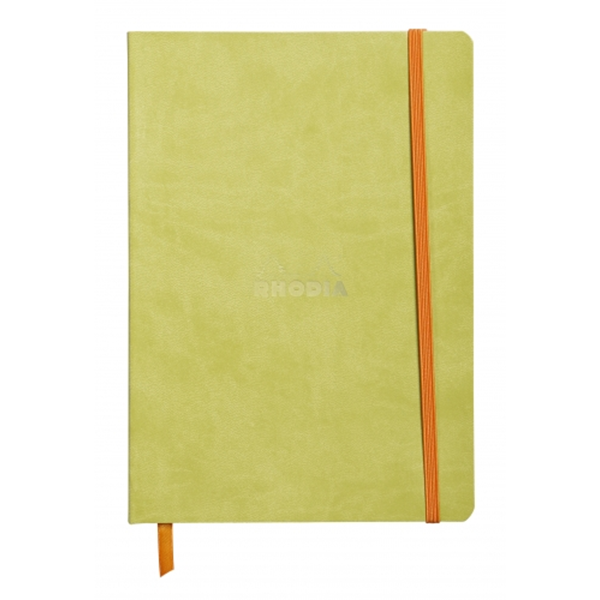 Rhodia Soft Cover Rhodiarama Notebooks, 6 x 8 1/4 (A5), Anise Green, Lined