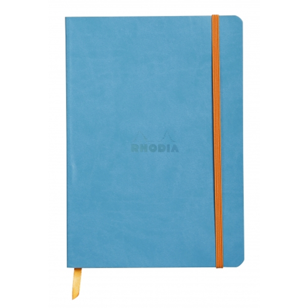 Rhodia Soft Cover Rhodiarama Notebooks, 6 x 8 1/4 (A5), Turquoise, Lined