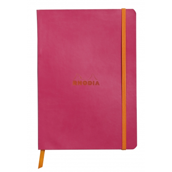 Rhodia Soft Cover Rhodiarama Notebooks, 6 x 8 1/4 (A5), Raspberry, Lined