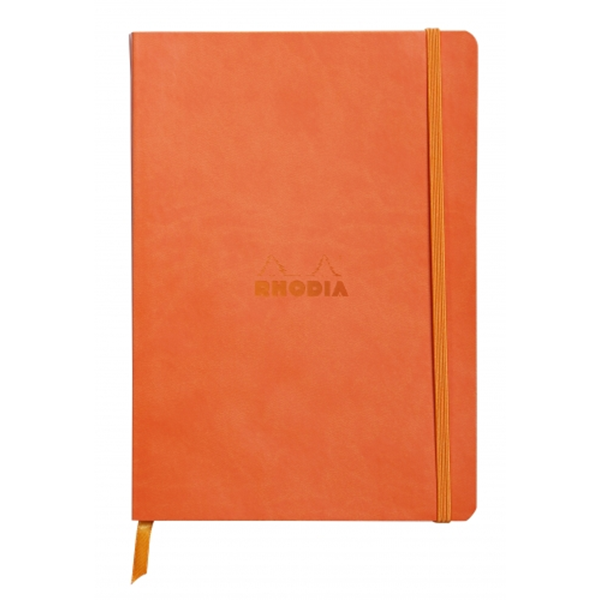 Rhodia Soft Cover Rhodiarama Notebooks, 6 x 8 1/4 (A5), Tangerine, Lined