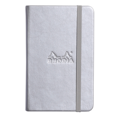 Rhodia Boutique Webnotebooks Bound 3 ½ x 5 ½ Lined Silver 96 sheets