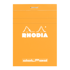 Rhodia Orange Notepads Dot Grid - 3 3⁄8 x 4 ¾