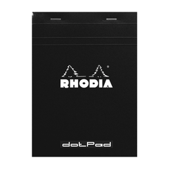 Rhodia Notepads DotPad Top Staplebound 3 3/8 x 4 3/4 Dot Grid Black 80 sheets