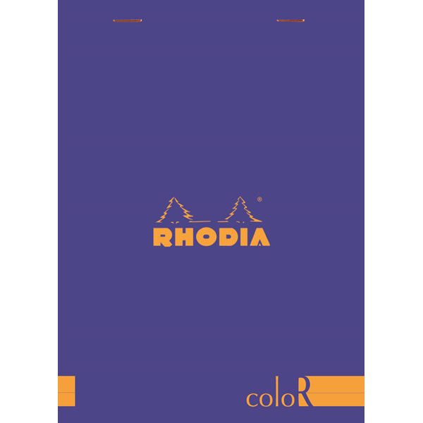 Rhodia ColorR Premium Stapled Notepad, Sapphire, Lined, 6 x 8 1/4