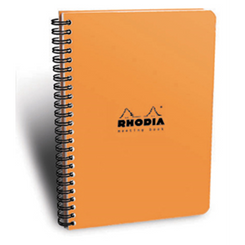 Rhodia Classic Meeting Book, Orange, Lined, 6 ½ x 8 ¼