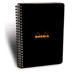 Rhodia Classic Meeting Book, Black, Lined, 6 ½ x 8 ¼