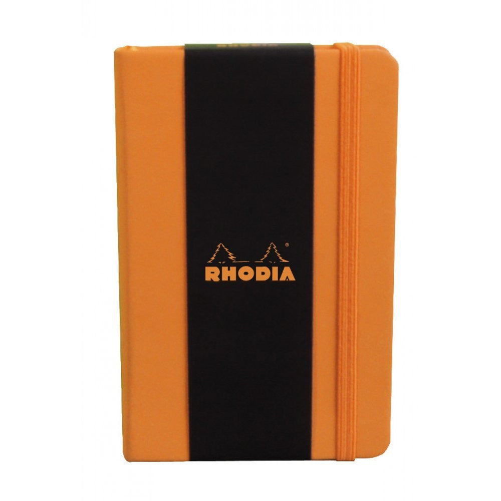 Rhodia Webnotebooks Bound 3 ½ x 5 ½ (A6) Blank Orange 96 sheets