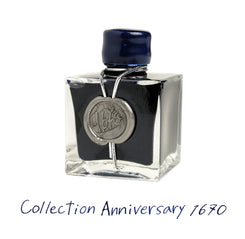 "J. Herbin Anniversary Ink ""1670"" Gift box with 50ml Bottle Blue Ocean"