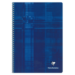 Clairefontaine Classic Notebooks, Wirebound, 6 x 8 1/4 (A5), Blue, Lined 96 Sheets