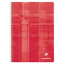 Clairefontaine Classic Notebooks, Wirebound, 6 x 8 1/4 (A5), Red, Lined 96 Sheets