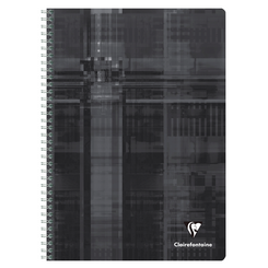 Clairefontaine Classic Notebooks, Wirebound, 6 x 8 1/4 (A5), Black, Lined 96 Sheets