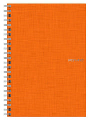 "EcoQua Spiralbound Grid Notebook Orange 70 Page Notebook 5.8""x8.25"""