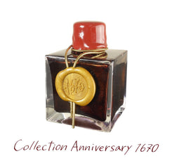 "J. Herbin Anniversary Ink ""1670"" Gift box with 50ml Bottle Dark Red Ink"