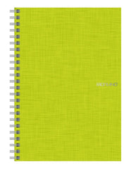 "EcoQua Spiralbound Grid Notebook Lime 70 Page Notebook 5.8""x8.25"""