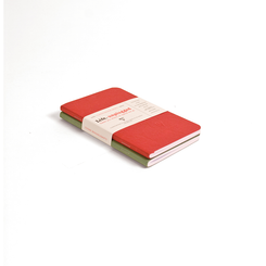Clairefontaine Basic Notebooks Side Staplebound Duo 3 1/2 x 5 1/2 Lined Red/Green 48 sheets