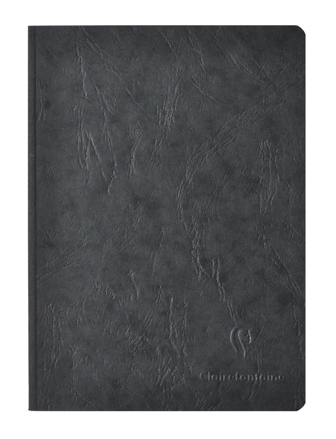 Clairefontaine Basic Notebooks Side Clothbound w/Elastic Closure 8 ¼ x 11 ¾ Lined w/margin Black 96 sheets