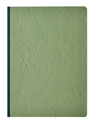 Clairefontaine Basic Notebooks Side Clothbound w/Elastic Closure 6 x 8 ¼ Lined Green 96 sheets