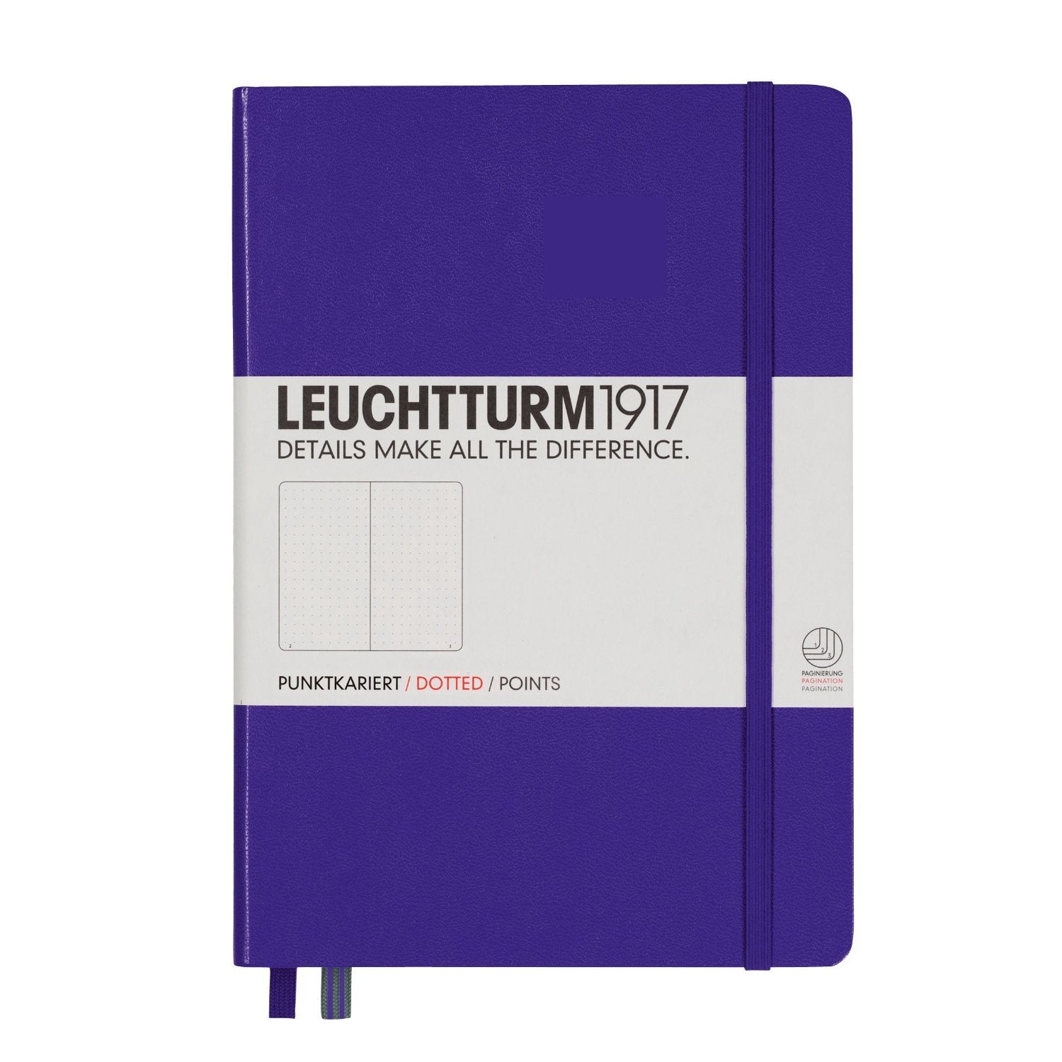 Leuchtturm1917 Medium Notebook A5 Hardcover Dot Grid Purple