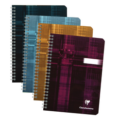 Clairefontaine Classic Notebooks Side Wirebound 6 x 8 ¼ Lined Assorted Covers 90 sheets