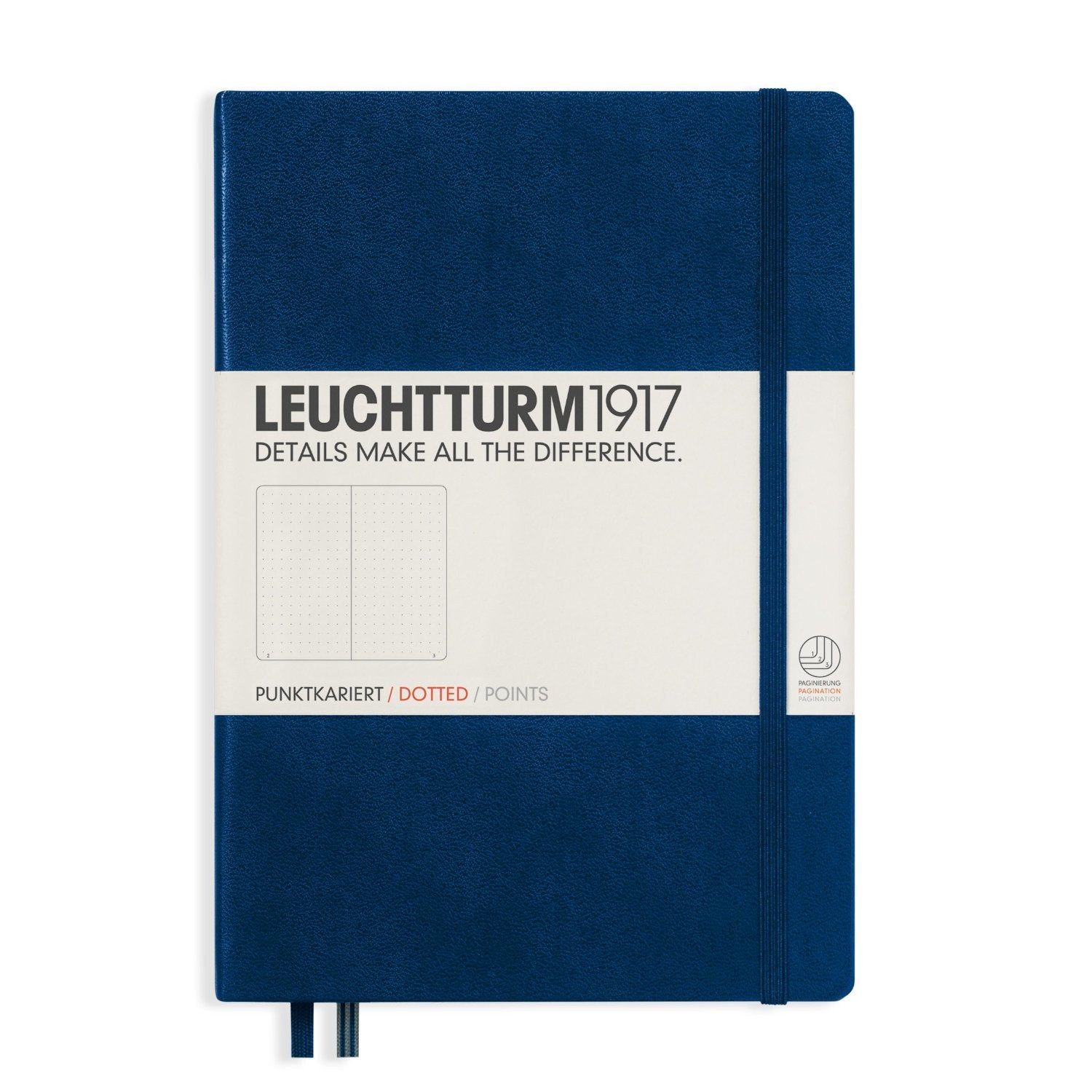 Leuchtturm1917 Medium Notebook A5 Hardcover Dot Grid Navy Blue