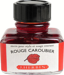 J. Herbin La Perle des Encres Fountain Pen Ink Bottled 30 ml Rouge Caroubier
