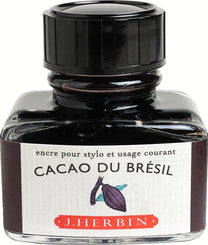 J. Herbin La Perle des Encres Fountain Pen Ink Bottled 30 ml Cacao Du Bresil