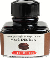 J. Herbin La Perle des Encres Fountain Pen Ink Bottled 30 ml Café Des Iles