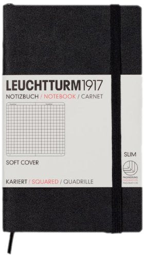 Leuchtturm1917 Notebook Pocket A6 Softcover Squared - Black