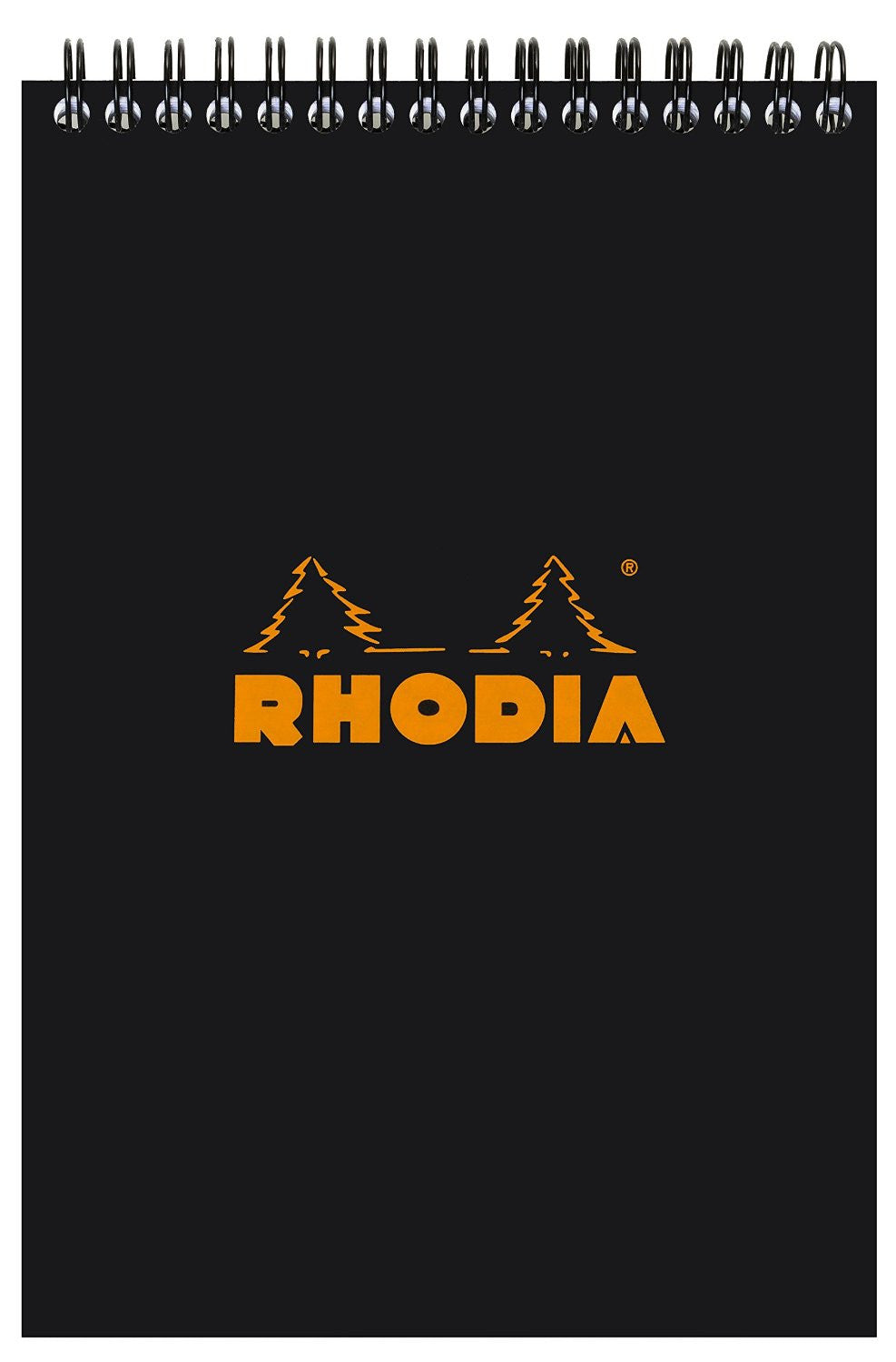 Rhodia Classic Notepads Top Wirebound 6 x 8 ¼ Lined Black 80 sheets