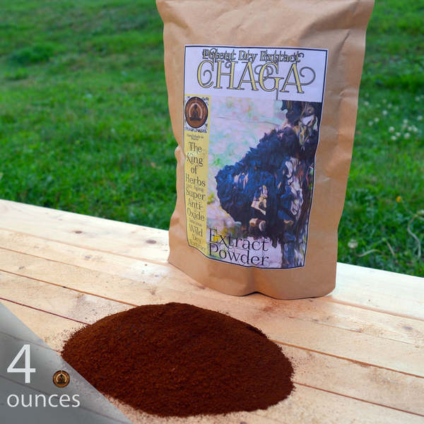4 oz Wild Chaga Double Extract Powder