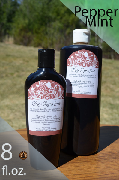 8 fl.oz. Wild Chaga Castile Soap - Peppermint