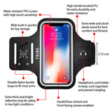 TRIBE Water Resistant Cell Phone Armband Case for iPhone 8, 7, 6, 6S, Samsung Galaxy S9, S8, S7, S6 with Adjustable Elastic Band & Key Holder for Running, Walking, Hiking - Tribe Fitness