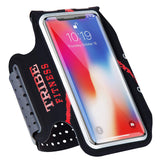 TRIBE Premium 100% Lycra Running Armband & Phone Holder in Black and Red for Larger Sized Smartphones - Tribe Fitness