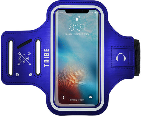 Comrade AB37-X Sports Armband in Dark Blue for Medium Sized Smartphones - Tribe Fitness
